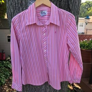 Lilly Pulitzer stripe button down shirt